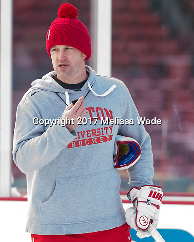 Scott Young (BU - Assistant Coach) - The Boston University Terriers practiced on the rink at Fenway Park on Friday, January 6, 2017.The Boston University Terriers practiced on the rink at Fenway Park on Friday, January 6, 2017.