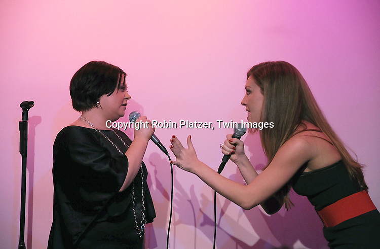 "One Life to Live actresses Kathy Brier and  BethAnn Bonner singing..at The ""Kathy Brier and Friends"" concert at The Metropolitan Room in New York City benefitting the Eos ..Theatre Company on May 16, 2008.....Robin Platzer, Twin Images"