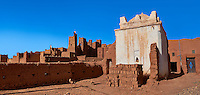 Profits shrine in the he Glaoui Kasbah of Tamedaght in the Ounilla valley set surrounded by the hammada (stoney) desert in the foothills of the Altas mountains, Tamedaght, Morroco.