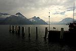 Boat on the Lake. Stätter See. Beckenried. Luzern area, Switzerland.