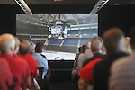 University of Mississippi athletic fans watch a presentation detailing a new basketball arena and an expansion to Vaught-Hemingway Stadium in Oxford, Miss. on Tuesday, August 9, 2011. The university announced a $150 million capital improvement campaign to build a new basketball arena and expand the football stadium.