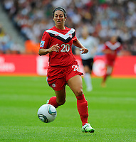 Marie-Eve Nault of Canada during the FIFA Women's World Cup at the FIFA Stadium in Berlin, Germany on June 26th, 2011.