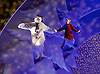 The Snowman<br /> based on Raymond Briggs&rsquo; book <br /> from The Birmingham Repertory Theatre at <br /> Peacock Theatre, London, Great Britain <br /> 25th November 2015<br /> <br /> <br /> Martin Fenton as The Snowman <br /> <br /> Oscar Couchman as The Boy <br /> <br /> <br /> Photograph by Elliott Franks <br /> Image licensed to Elliott Franks Photography Services