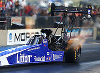 Jul 23, 2016; Morrison, CO, USA; NHRA top fuel driver Bill Litton during qualifying for the Mile High Nationals at Bandimere Speedway. Mandatory Credit: Mark J. Rebilas-USA TODAY Sports