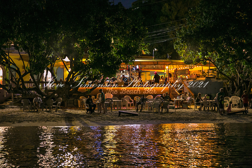 Wharfside Village at night<br />