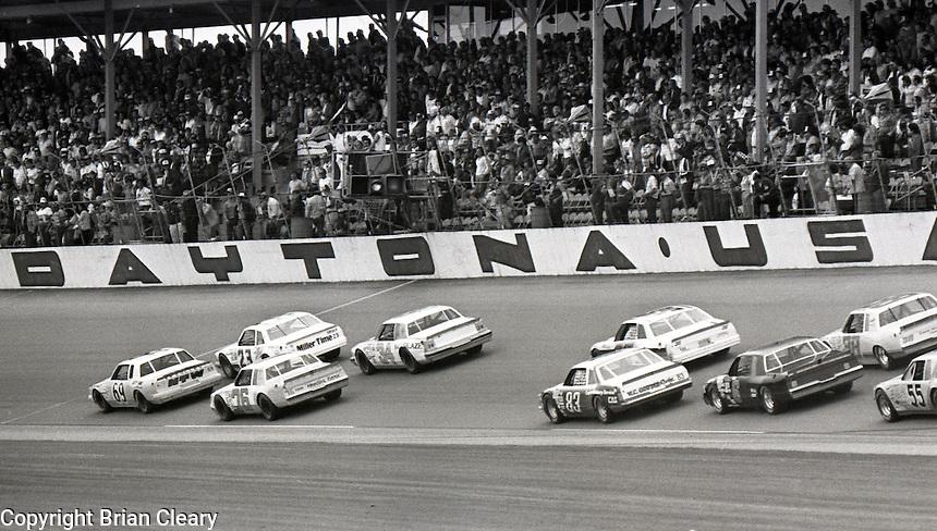 ARCA action at Daytona International Speedway in Daytona Beach, FL on February  1984. (Photo by Brian Cleary/www.bcpix.com)