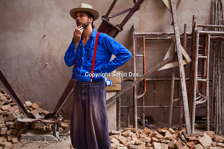 French architect, Francois Tesniere is seen in an old house he is renovating in the UNESCO heritage city of Georgetown in Penang, Malaysia. Photo: Sanjit Das/Panos