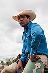 Portrait of an indigenous cowboy.  Mt Garnet Rodeo.  Mt Garnet, Queensland, Australia
