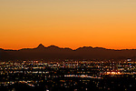Tucson city lights at dusk, Arizona