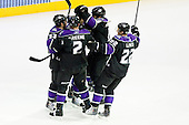 Team Los Angeles Kings celebrate during ice-hockey match between Los Angeles Kings and Colorado Avalanche in NHL league, February 26, 2011 at Staples Center, Los Angeles, USA. (Photo By Matic Klansek Velej / Sportida.com)