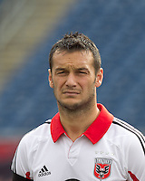 DC United forward Hamdi Salihi (9). In a Major League Soccer (MLS) match, DC United defeated the New England Revolution, 2-1, at Gillette Stadium on April 14, 2012.
