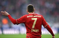 FUSSBALL   1. BUNDESLIGA  SAISON 2011/2012   31. Spieltag FC Bayern Muenchen - FSV Mainz 05       14.04.2012 Franck Ribery (FC Bayern Muenchen)