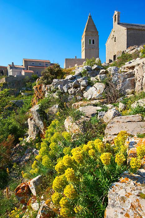 Lubenice hill top village, Cres Island, Croatia
