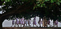 School Children near the Fort of Galle, Sri Lanka