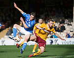 Motherwell v St Johnstone...30.08.14  SPFL<br /> Gary McDonald and Mark O'Brien<br /> Picture by Graeme Hart.<br /> Copyright Perthshire Picture Agency<br /> Tel: 01738 623350  Mobile: 07990 594431