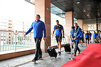 The Bath Rugby team arrive at the Stade Mayol. European Rugby Champions Cup match, between RC Toulon and Bath Rugby on January 10, 2016 at the Stade Mayol in Toulon, France. Photo by: Patrick Khachfe / Onside Images