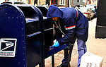 The U.S. Postal Service is in the midst of its busiest two days of the year,This week,the service expects to deliver 16.5 billion pieces of mail over the holiday season meanwhile a potential bankruptcy is still affecting the U.S. Postal Service in New York, United States. 17/12/2011.  Photo by Eduardo Munoz Alvarez / VIEWpress.