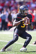 College Park, MD - October 15, 2016: Maryland Terrapins quarterback Tyrrell Pigrome (3) during game between Minnesota and Maryland at  Capital One Field at Maryland Stadium in College Park, MD.  (Photo by Elliott Brown/Media Images International)