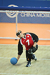 Canadian goalball action at the Paralympic Games in Beijing, Monday, Sept., 8, 2008.<br /> Photo by Mike Ridewood