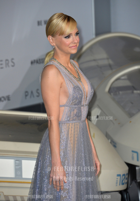 Actress Anna Faris at the world premiere of &quot;Passengers&quot; at the Regency Village Theatre, Westwood. <br /> December 14, 2016<br /> Picture: Paul Smith/Featureflash/SilverHub 0208 004 5359/ 07711 972644 Editors@silverhubmedia.com