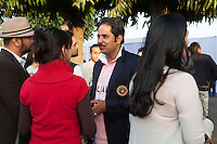 Maharaj Narendra Singh of Jaipur royal family (center) at the high tea event after the Argyle Pink Diamond Cup, organised as part of the 2013 Oz Fest in the Rajasthan Polo Club grounds in Jaipur, Rajasthan, India on 10th January 2013. Photo by Suzanne Lee