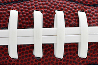 17 May 2005: NFL College Football, stock, closeup, texture, Sports Ball graphic detail, illustration, product, art, clean, white background. Ready for all uses. International Sport.  Mandatory Credit:  Shelly Castellano