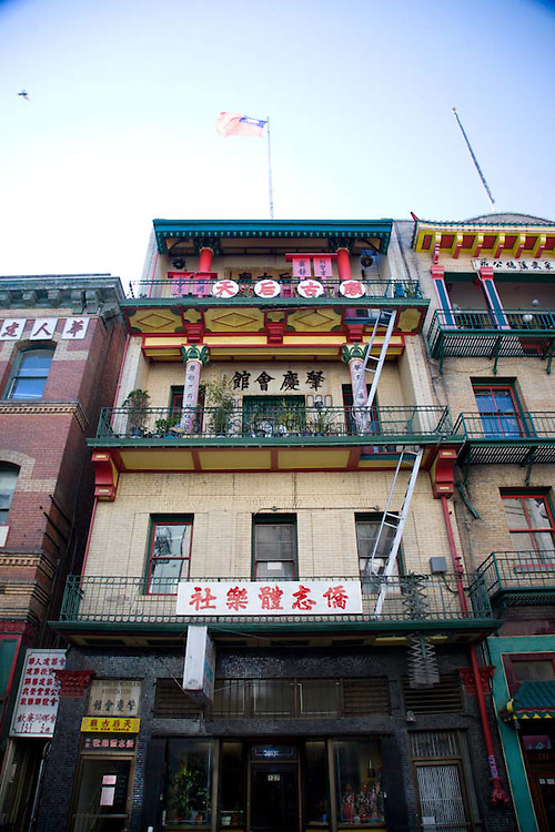 The exterior of the Tien Hau Temple on Waverly Place in Chinatown