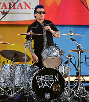NEW YORK, NY - May 17: Tré Cool of Green Day performs on ABC's 'Good Morning America' at Rumsey Field in Central Park on May 19, 2017 in New York City. @John Palmer / Media Punch
