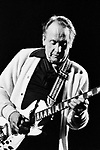 Les Paul 1983 on Rock And Roll Tonite TV show.<br /> &copy; Chris Walter