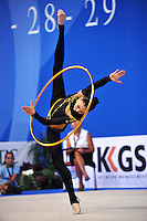 Alina Maksymenko of Ukraine performs with hoop at 2010 Pesaro World Cup on August 29, 2010 at Pesaro, Italy.  Photo by Tom Theobald.