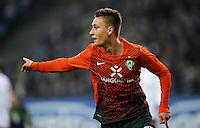 FUSSBALL   1. BUNDESLIGA   SAISON 2011/2012   22. SPIELTAG Hamburger SV - Werder Bremen       18.02.2012 Tom Trybull (SV Werder Bremen) bejubelt seinen Treffer zum 0:2