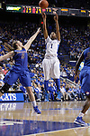 UK guard A'dia Mathies shoots a basket while DePaul guard Anna Martin tries to guard during the second half of the women's basketball game v. Depaul University in Rupp Arena in Lexington, Ky., on Sunday, December 7, 2012. Photo by Genevieve Adams | Staff