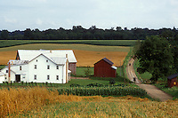 horizontal, oh, usa, america, american, united states of america, state, u.s.a., usa, u.s., us, north, americana, travel, farms, barn, agriculture, Amish, Mennonite, simple, way of life, rural, landscape, house