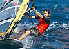 Portugal, Funchal, Madeira :  Portuguese Pedro Moura, competes on February 24, in 2012 European Windsurfing Championships in the bay of Funchal on the Portuguese archipelago of Madeira.Photo Gregorio Cunha .Campeonato da Europa de windsuf, classe RSX, na baia da cidade do Funchal,  Iha da Madeira, Portugal..Foto Gregorio Cunha