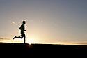 PE00259-00...WASHINGTON - Pierce Prohovost jogging in Edmonds. (MR# P9)