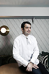 PARIS, FRANCE. DECEMBER 2, 2010. Chef Jean-Francois Piege at the hotel Thoumieux. (Photo by Antoine Doyen)