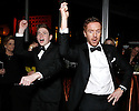 Actors Jackson Pace, left, and Damian Lewis dance Gangnam Style at the Fox Golden Globes Party on Sunday, January 13, 2013, in Beverly Hills, Calif. (Photo by Todd Williamson/Invision for Fox Searchlight/AP Images)