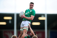 James Ryan of Ireland U20 wins the ball at a lineout. World Rugby U20 Championship Final between England U20 and Ireland U20 on June 25, 2016 at the AJ Bell Stadium in Manchester, England. Photo by: Patrick Khachfe / Onside Images