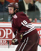 Kevin McNamara (Colgate - 10) - The Harvard University Crimson defeated the visiting Colgate University Raiders 6-2 (2 EN) on Friday, January 28, 2011, at Bright Hockey Center in Cambridge, Massachusetts.