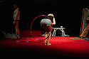 Tumble Circus present their new indoor show DEATH OR CIRCUS as part of the Beyond Circus weekend at the Albany, Deptford. Tumble Circus are Tina Segner and Ken Fanning and are joined in this show by harpist Ursula Burns.