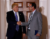 Chicago Cubs owner Todd Ricketts, leaves the clubhouse of Trump International Golf Club, after meeting with United States President-elect Donald Trump (L) and Vice President-elect Mike Pence, November 19, 2016 in Bedminster Township, New Jersey. <br /> Credit: Aude Guerrucci / Pool via CNP /MediaPunch