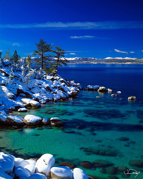 Lake Tahoe Scenic Emerald Waters Winter