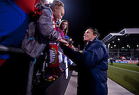 Abby Wambach, Fans. The USWNT tied New Zealand, 1-1, at an international friendly at Crew Stadium in Columbus, OH.