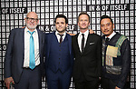 Frank Oz, Derek DelGaudio, Neil Patrick Harris and Glenn Kaino attend the Opening Night after party for 'In & Of Itself' at ACE Hotel on April 12, 2017 in New York City.