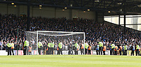 Police keep a watchful eye on tune traveling Bolton Wanderers fans after a pitch invasion after the first goal delayed the restart <br /> <br /> Photographer Stephen White/CameraSport<br /> <br /> The EFL Sky Bet League One - Port Vale v Bolton Wanderers  - Saturday 22nd April 2017 - Vale Park - Burslem<br /> <br /> World Copyright &copy; 2017 CameraSport. All rights reserved. 43 Linden Ave. Countesthorpe. Leicester. England. LE8 5PG - Tel: +44 (0) 116 277 4147 - admin@camerasport.com - www.camerasport.com