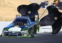 Jul 30, 2016; Sonoma, CA, USA; NHRA funny car driver Alexis DeJoria during qualifying for the Sonoma Nationals at Sonoma Raceway. Mandatory Credit: Mark J. Rebilas-USA TODAY Sports