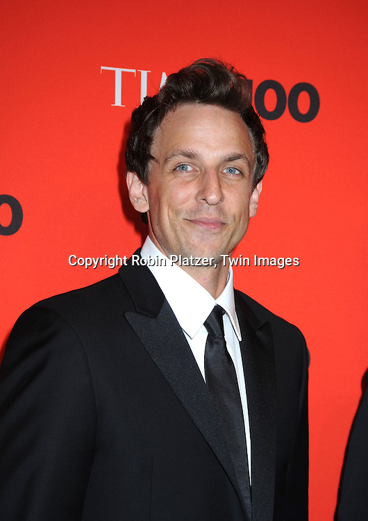 Seth Meyers  posing for photographers at the Time Celebrates the Time100 Issue Gala on May 4, 2010 at The Time Warner Center in New York City. The magazine celebrates the 100 Most Influential People in the World.