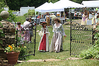 Historical re-enactors enjoy a festival at Pharsalia in Nelson County, Va. .