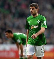 FUSSBALL   1. BUNDESLIGA   SAISON 2012/2013    30. SPIELTAG SV Werder Bremen - VfL Wolfsburg                          20.04.2013 Sokratis Papastathopoulos (SV Werder Bremen) enttaeuscht