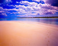 Deserted Beach, Green Turtle Cay, Abaco Islands, Bahamas Caribbean Sea